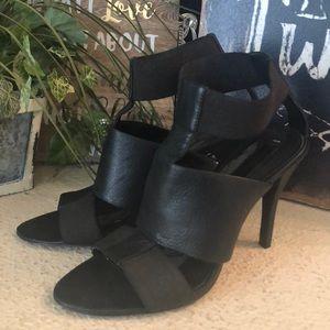 BCBGmaxazaria black strappy Heels